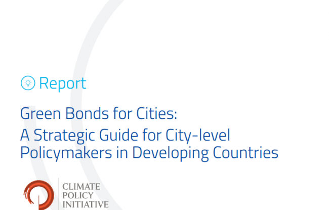 Green Bonds for Cities