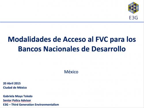 Modalidades de Acceso al FVC para los Bancos Nacionales de Desarrollo_Foto_Destacada