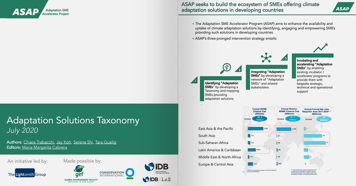 ASAP Adaptation Solutions Taxonomy