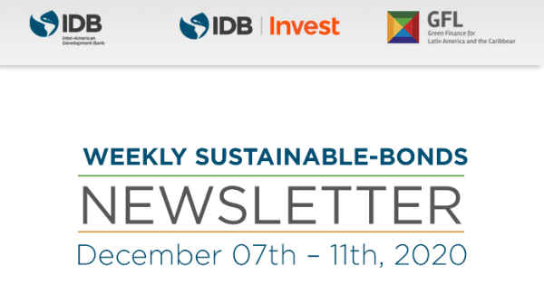 Weekly Sustainable-Bonds Newsletter. December 7th – December 11th, 2020