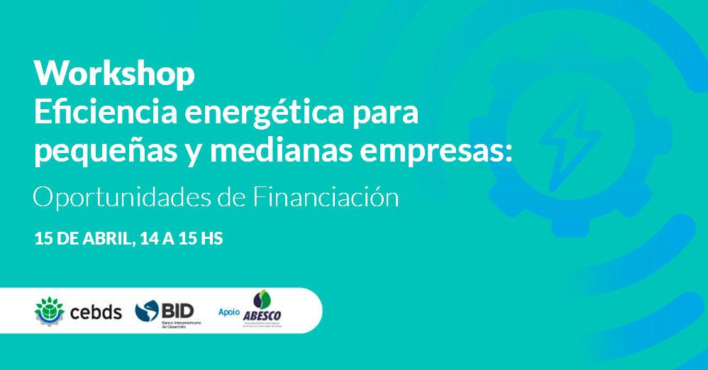 Workshop Eficiencia energética para pequeñas y medianas empresas: Oportunidades de Financiación