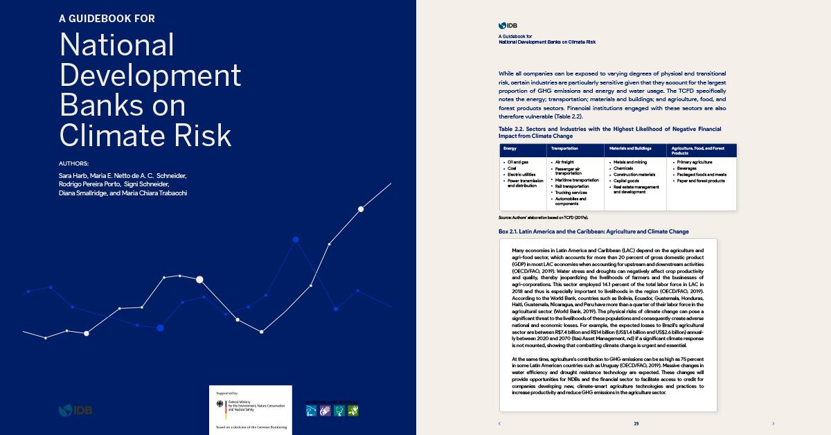 Guía para los bancos nacionales de desarrollo sobre el riesgo climático