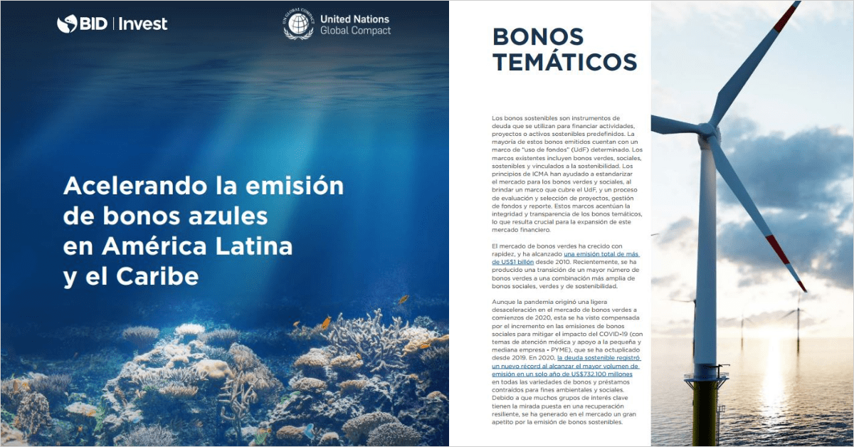 Acelerando la emisión de bonos azules en América Latina y el Caribe