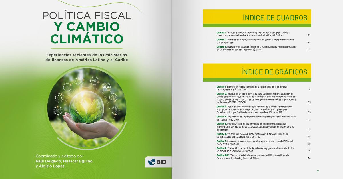 Política fiscal y cambio climático: experiencias recientes de los ministerios de finanzas de América Latina y el Caribe